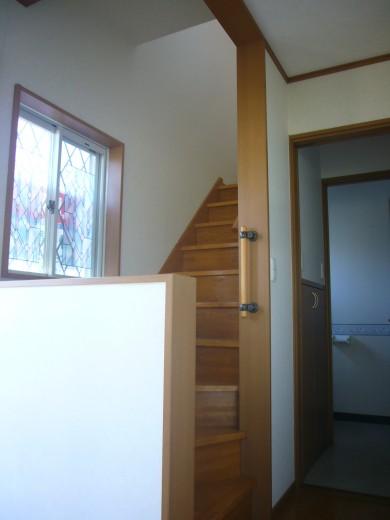 こちらから2階へ